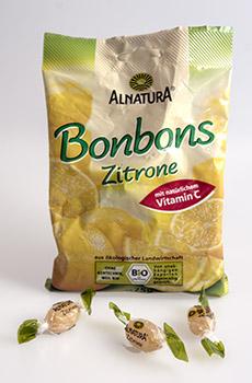Zitronenbonbons von Alnatura - Biobonbons